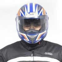 ARMOUR Helmet Full Face - Blue / Orange