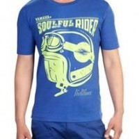 Ray Z Soulful Rider Blue T-Shirt