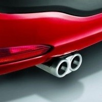 Punto Evo Double Steel Tail Pipe Exhaust End