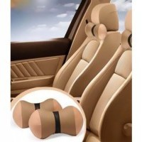 Beige Cushion Pillow for 1 Rear Seat
