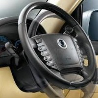 Rexton Speed sensitive power steering with tilt adjustment and audio controls