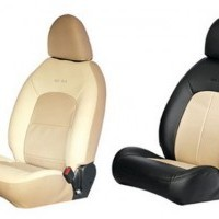 Micra Seat Cover Art Leather Grey Ivory Integrated