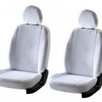 Etios Liva Seat Cover Artificial Leather Black Silver