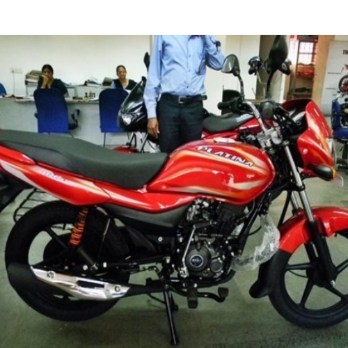 Bajaj Platina Right Side View