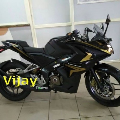 Bajaj Pulsar Rs200 Black Colour Right Side