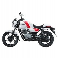 Bajaj V15 150Cc Bike Side View White