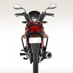 Hero Glamour 125 Disc Self And Alloy Rear View