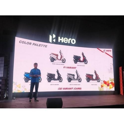 Hero Maestro Edge 125 Colour Palatte