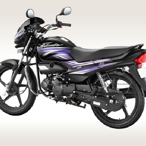 Hero Super Splendor Ismart Rear Quarter View