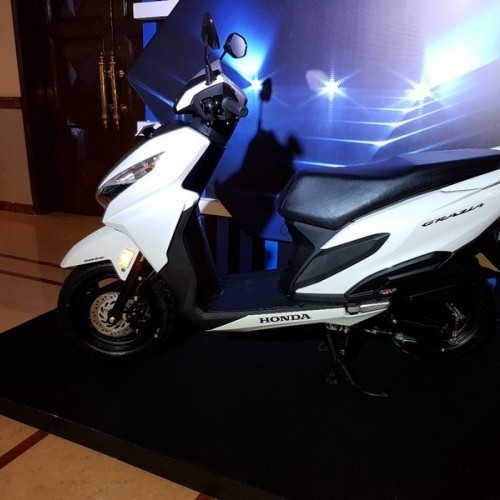 Honda Grazia White Left Side