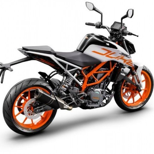 Ktm Duke 390 White Rear Quarter View