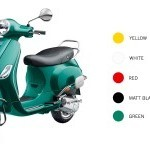 Vespa Vxl 150 Color Yellow White Red Black Green