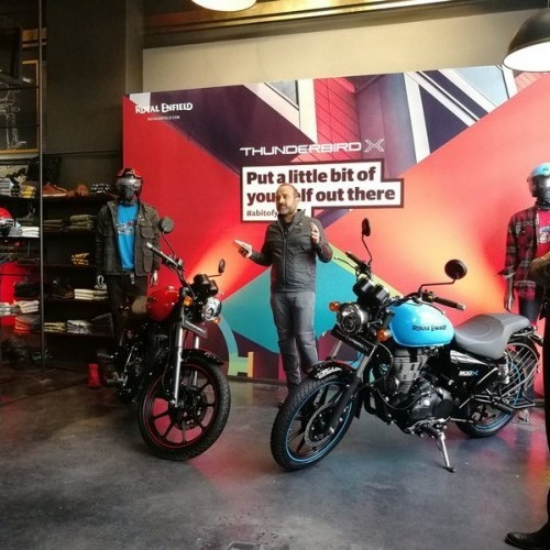 Royal Enfield Thunderbird X Launch Image