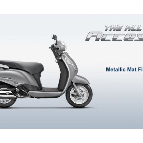 New Suzuki Access 125 Color Metallic Mat Fibroin Grey