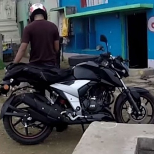 Tvs Apache Rtr 160 2018 Spy Pictures Side Right