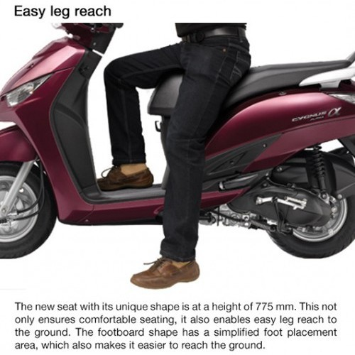 Yamaha Alpha Seat Height