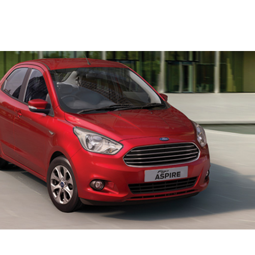 Ford Figo Aspire Red Colour Car.