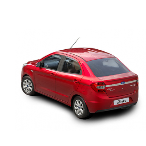 Ford Figo Aspire Red Colour Car Rear View.