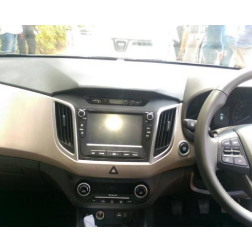 Hyundai Creta Interiors Touchscreen Steering Wheel