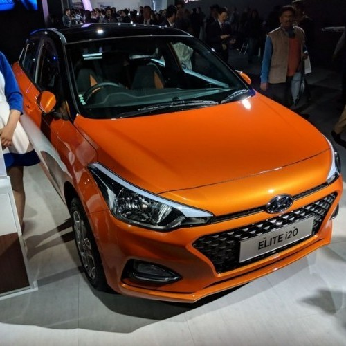 Hyundai Elite I20 2018 Orange Colorjpg