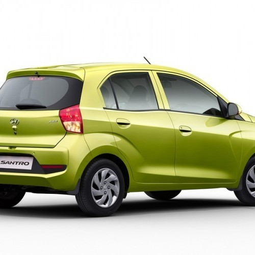 Santro Green Rear View