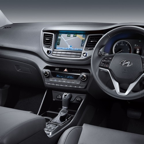 Hyundai Tucson India Interiors Dashboard