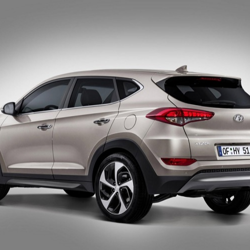 Hyundai Tucson India Rear Quarter View