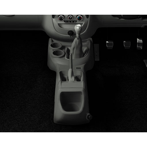Mahindra Nuvosport Interiors Central Console Space.