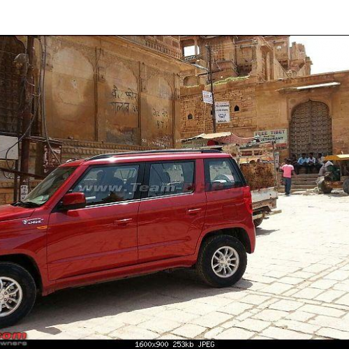 Mahindra Xuv 300 Red Car Spy Picture