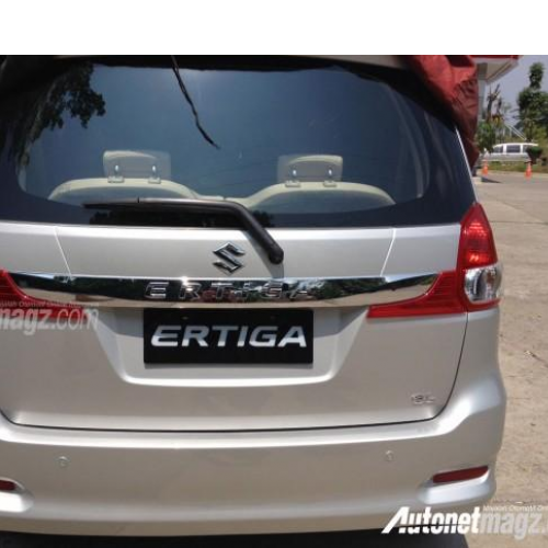 Maruti Ertiga Facelift 2015 Rear View