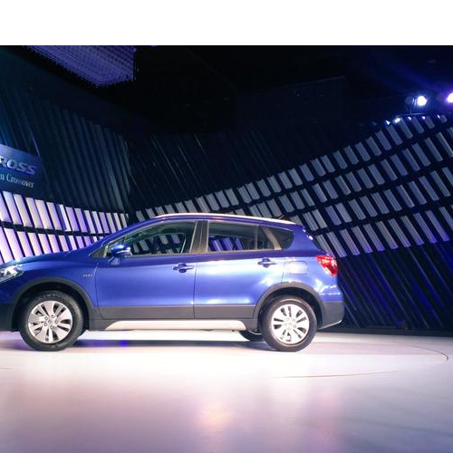 Maruti Scross Launch Picture Blue Side View