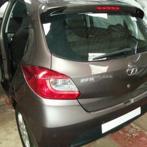 Tata Zica Rear View Tail Lamp Spy Picture