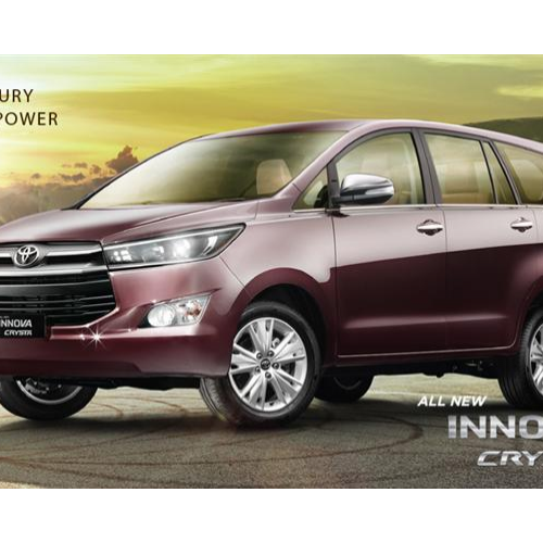 Toyota Innova Crysta Front Left Side View