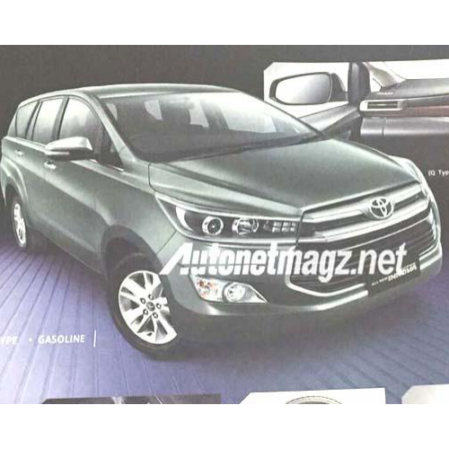 2016 Toyota Innova Front Grille Projector Headlamps Spy Picture
