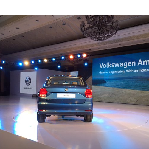 Volkswagen Ameo Rear View Launch Picture