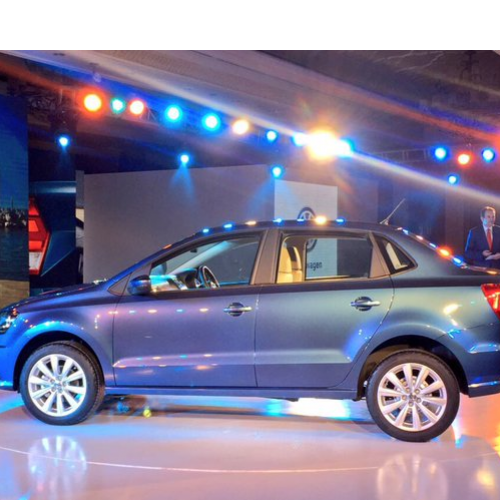 Volkswagen Ameo Side View Launch Picture