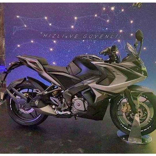 Bajaj Pulsar Rs200 Colour Graphite Black
