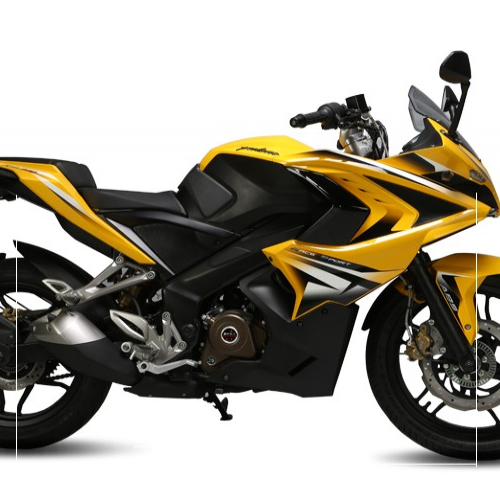 Bajaj Pulsar Rs200 Yellow Colour