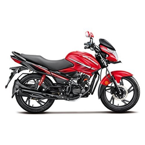 Hero Glamour Ismart Black With Sports Red Color