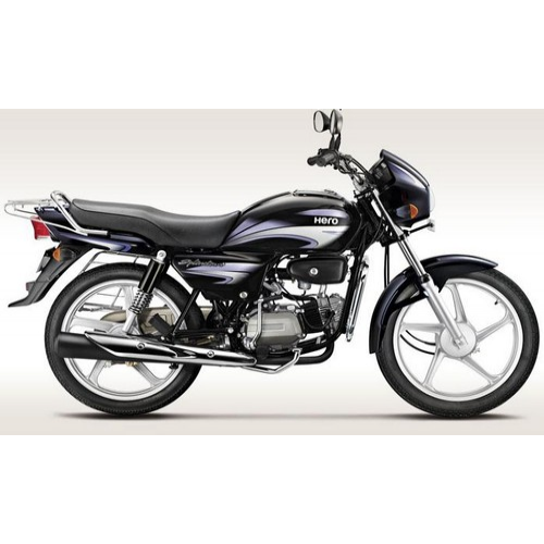 Hero Splendor Plus 100 Colour Black With Purple Silver
