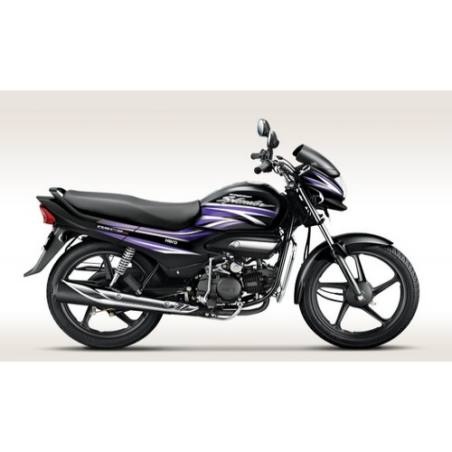Hero Super Splendor 125 Colour Black With Electric Purple