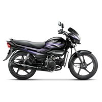 Super Splendor Ismart Colour Black With Electric Purple
