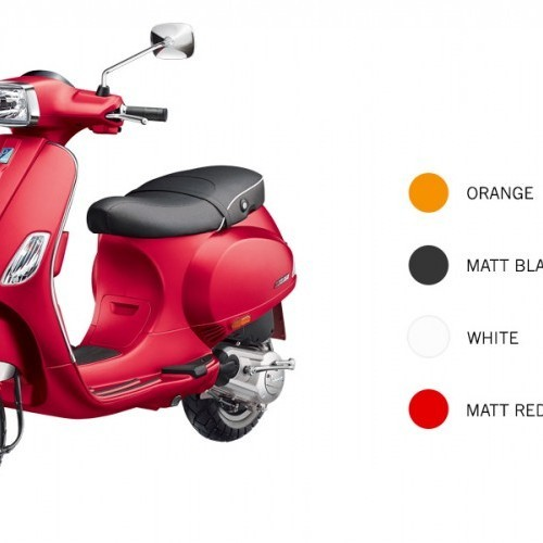 Vespa Sxl 150 Color Orange White Black Red