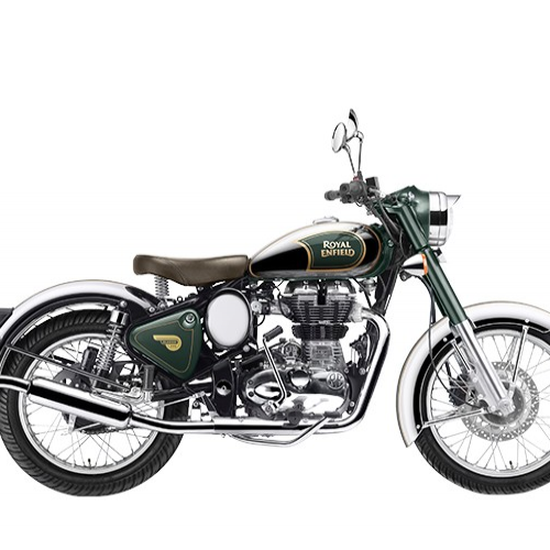Royal Enfield Classic Chrome Color Green