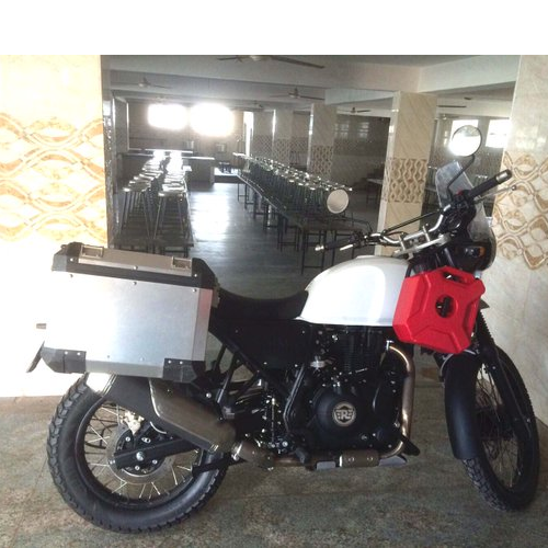 Royal Enfield Himalayan Side View White Color