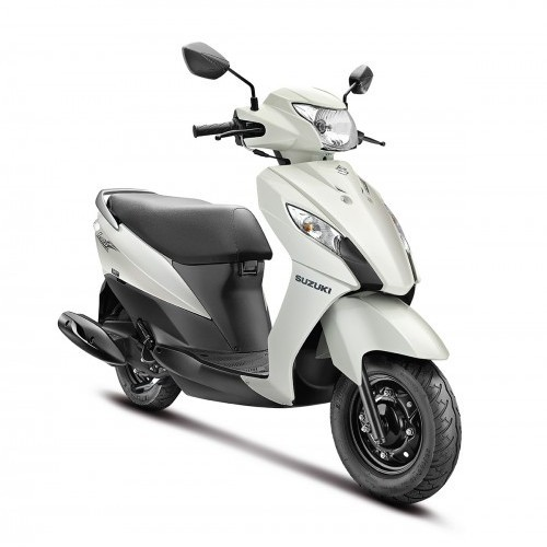 Suzuki Lets Scooter Dual Tone Colour White