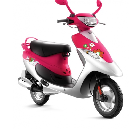 2016 Tvs Scooty Pep Plus Color Pink