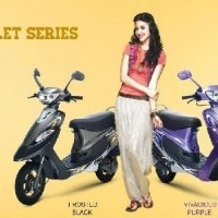 Tvs Scooty Pep Plus Colour Black And Purple