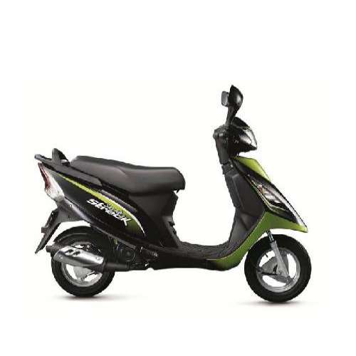 Tvs Scooty Streak Colour Black With Green