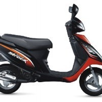 Tvs Scooty Streak Colour Black With Red